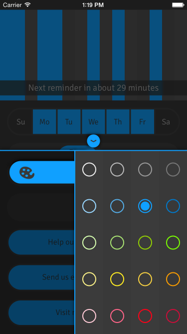 theme picker screenshot